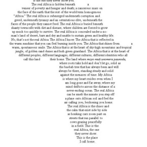 The Real Africa: A Poem